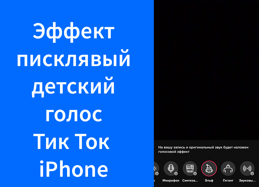 Писклявый детский голос в Тик Ток iPhone (TikTok) – как изменить голос