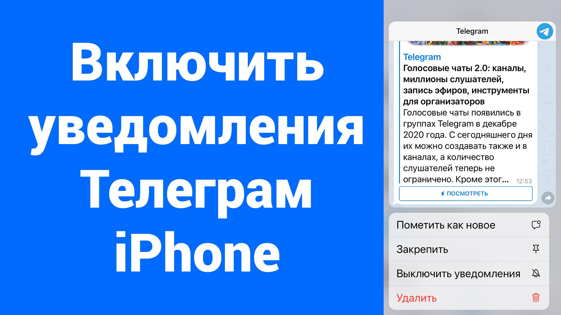 Нет звука и уведомлений от 1 контакта Telegram iPhone – перечёркнутый динамик