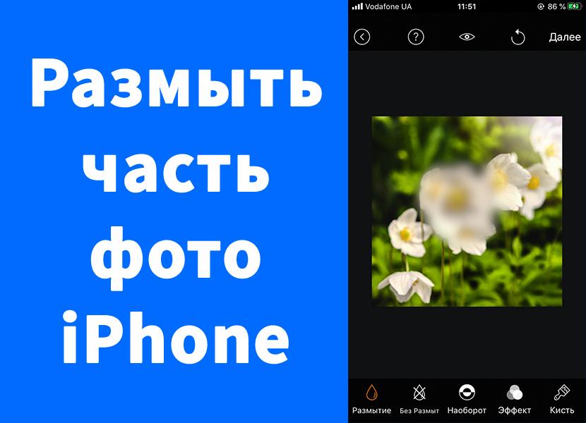 Как размыть лицо, номера на фото iPhone – Blur Photo