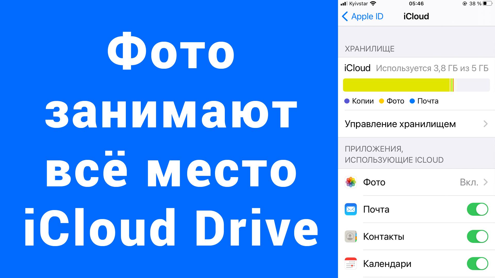 Фото занимают место iCloud Drive iPhone – как очистить – не загружаются фото в Айклауд