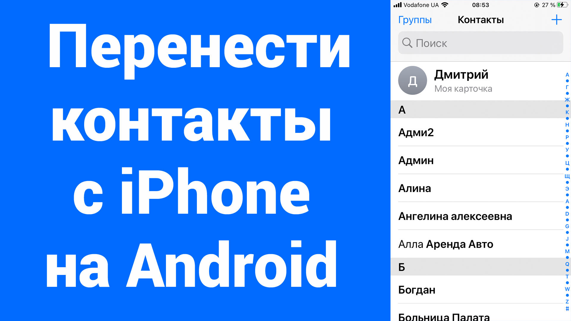 Как перенести контакты с iPhone на Android (Samsung, Huawei, Nokia, OPPO, OnePlus, Xiaomi и другие)